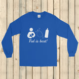 Fed Is Best Tube Feeding Breastfeeding Unisex Long Sleeved Shirt - Choose Color - Sunshine and Spoons Shop