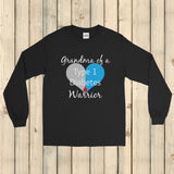 Grandma of a Type 1 Diabetes Warrior T1D Unisex Long Sleeved Shirt - Choose Color - Sunshine and Spoons Shop