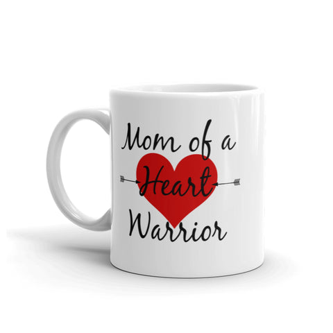 Mom of a Heart Warrior CHD Heart Defect Coffee Tea Mug - Choose Size - Sunshine and Spoons Shop