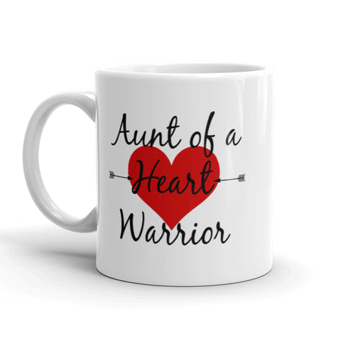Aunt of a Heart Warrior CHD Heart Defect Coffee Tea Mug - Choose Size - Sunshine and Spoons Shop