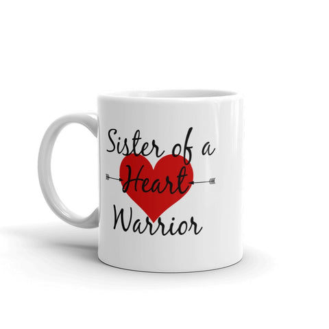 Sister of a Heart Warrior CHD Heart Defect Coffee Tea Mug - Choose Size