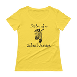 Sister of a Zebra Warrior Rare Disease Ehlers Danlos EDS Scoop Neck Women's Shirt - Choose Color