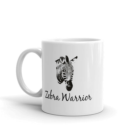 I Am a Zebra Warrior Rare Disease Ehlers Danlos EDS Coffee Tea Mug - Choose Size - Sunshine and Spoons Shop