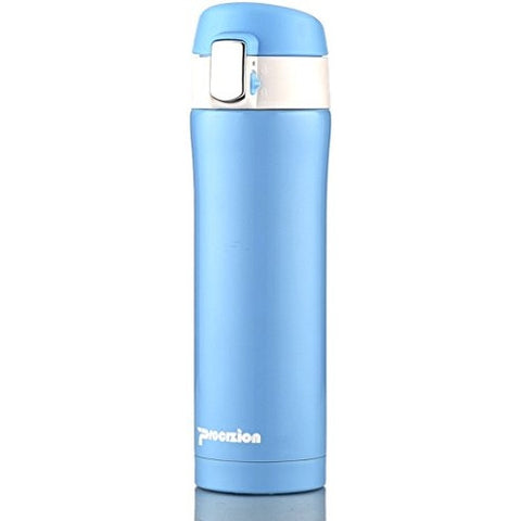 Insulated Stainless Steel Vacuum Flask Travel Mug Thermos Bottle Blue 16 oz