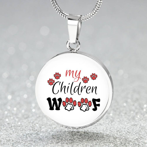 My Children Woof Round Pendant Necklace - Bowie Shoppe