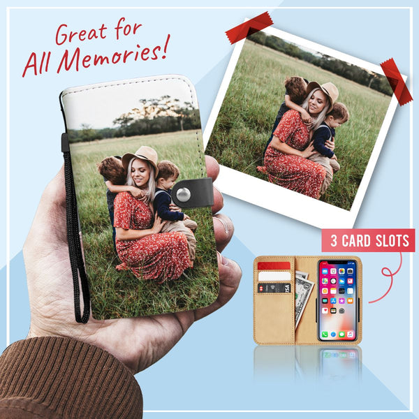 Personalized Wallet Phone Case With LOVED ONES' PHOTO