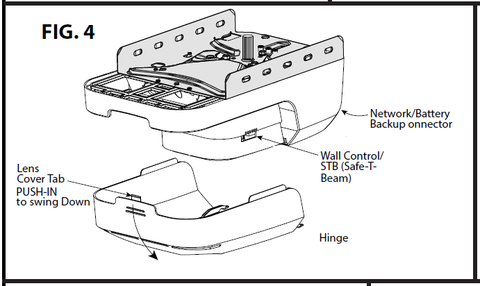 Genie 38727A.S garage door opener motor replacement instructions