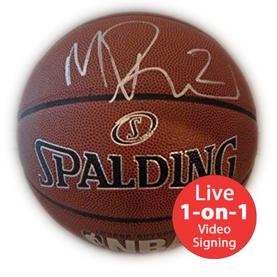 Mitch Richmond LIVE Video Signing Replica NBA Basketball