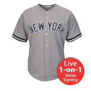 Reggie Jackson LIVE Video Signing Yankees Away Jersey