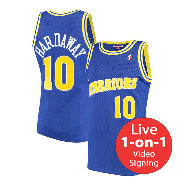 Tim Hardaway LIVE Video Signing Authentic Warriors Jersey