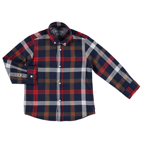 Red Slim Fit l/s Shirt