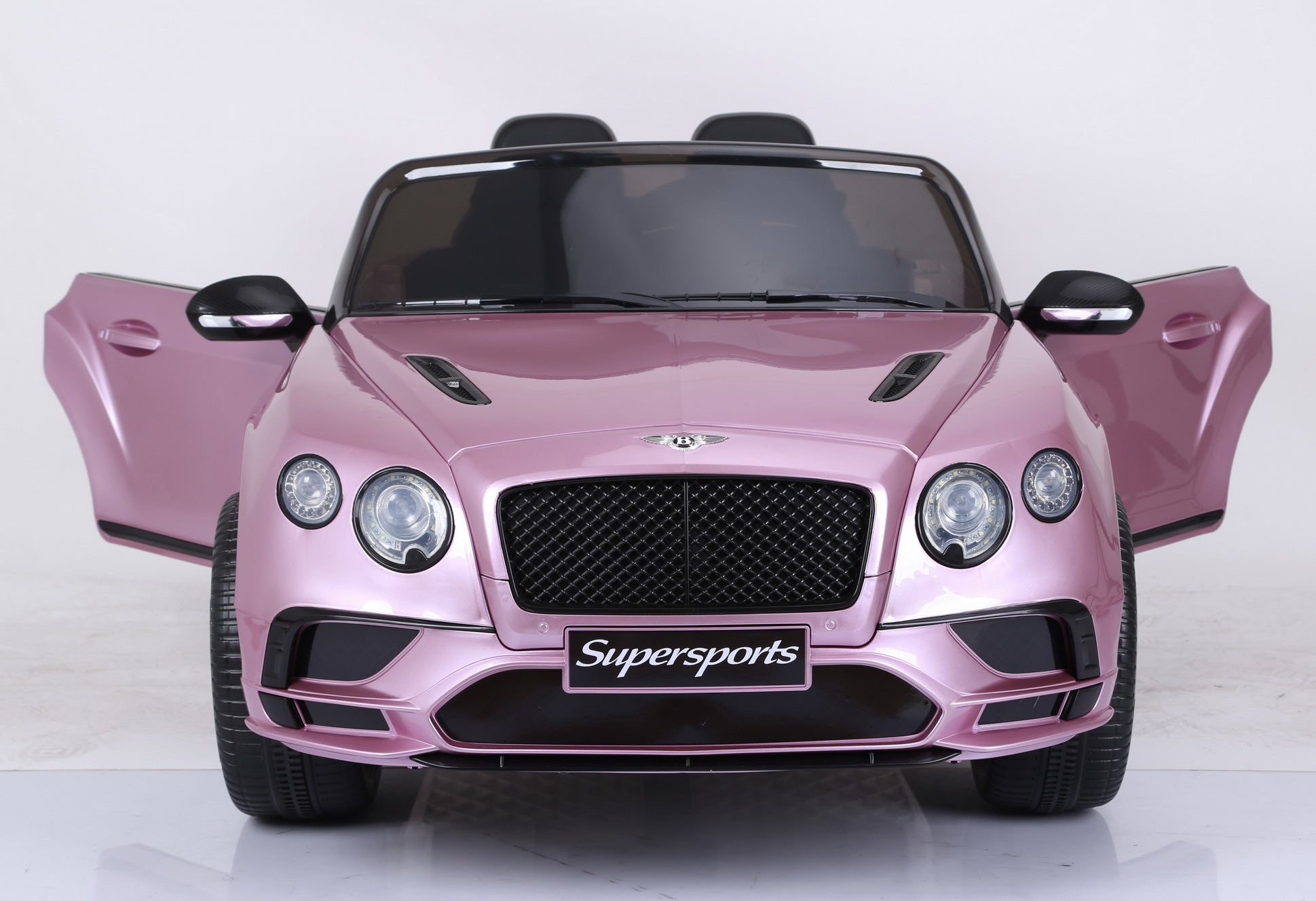 Licensed Bentley Continental Sports 12v Kids Electric Ride On Car - Metallic Pink