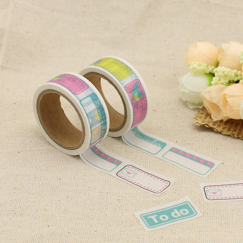 Cute Labels Perforated Washi Tape