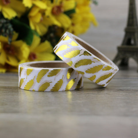 Gold Feathers Washi Tape