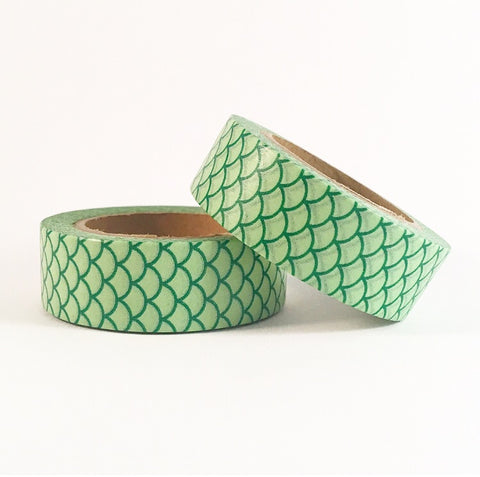 Green Mermaid Tail Washi Tape