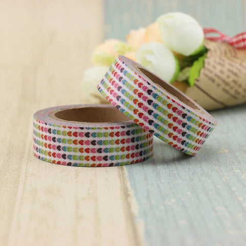 Rainbow Hearts Washi Tape