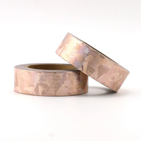 Rose Gold Geometric Holographic Foil Washi Tape