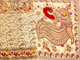 * SALE * Kalamkari Crepe Silk Saree pattern with musical instruments in body  (21200A)