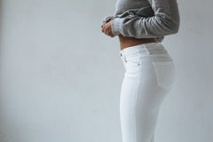 Roka Skinny Crop | Optic White