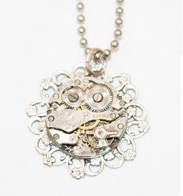 Recycled Watch Parts Necklace