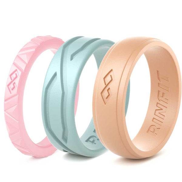 Women's Silicone Rings - 3 Rings Pack - MIX Collection