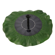 Solar Powered Floating Lily Pad Fountain