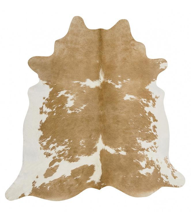 Exquisite Natural Cow Hide Beige White - MaddieBelle