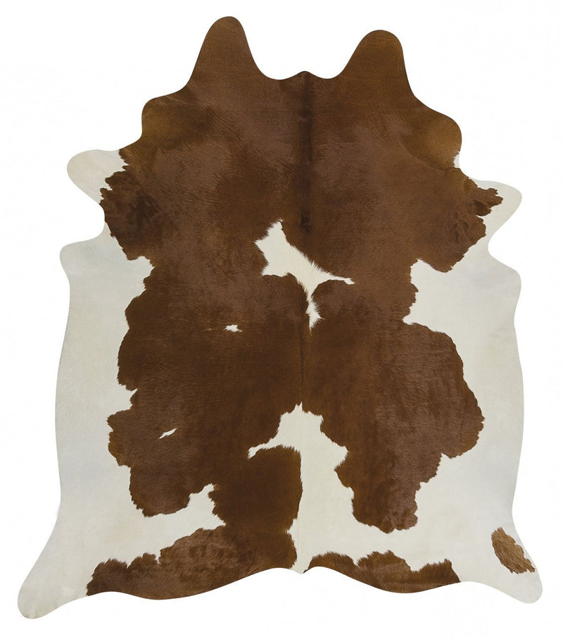 Exquisite Natural Cow Hide Brown White - MaddieBelle