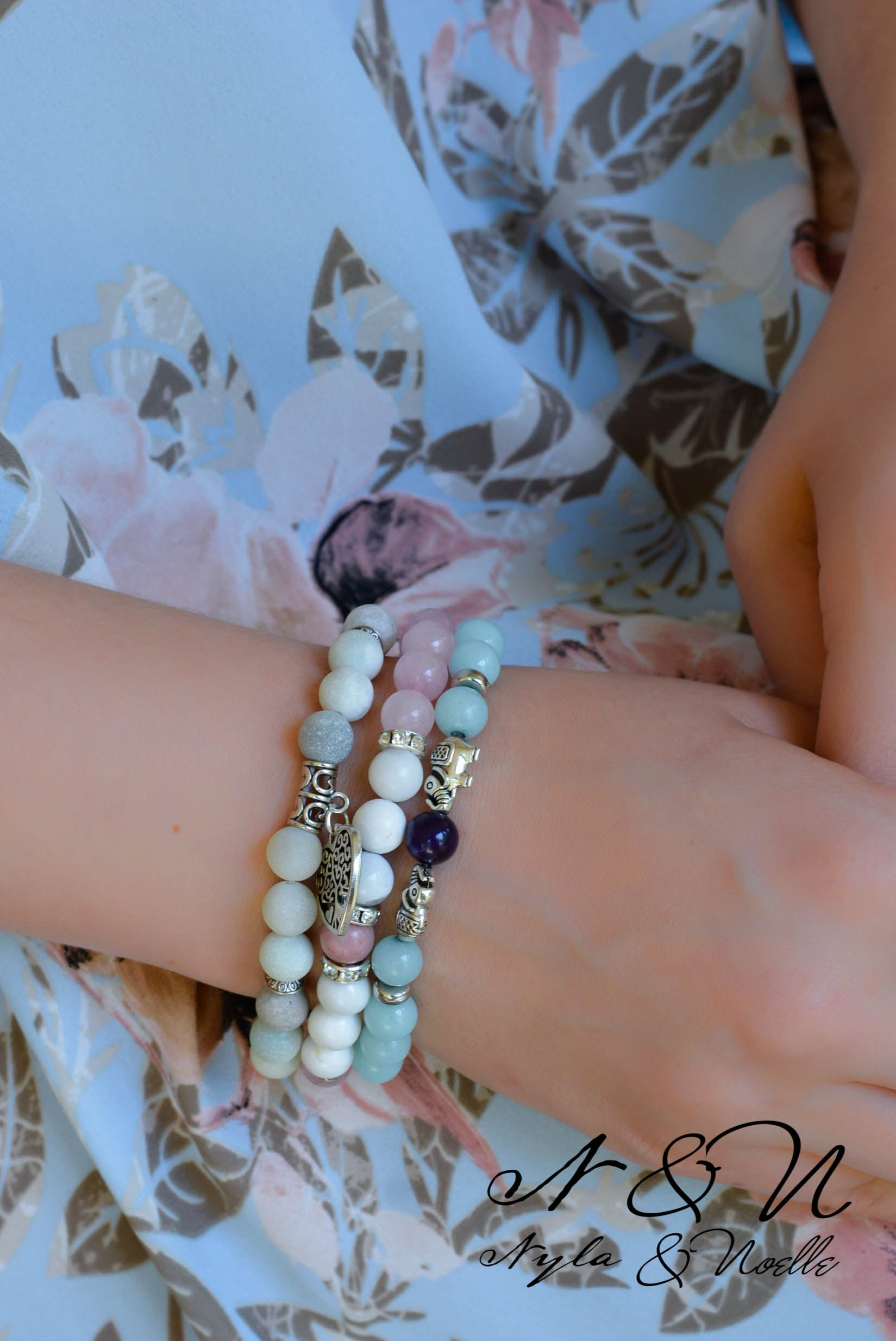 Create - A- Stack  OCEANS OF SERENITY - Natural Stone Bracelet