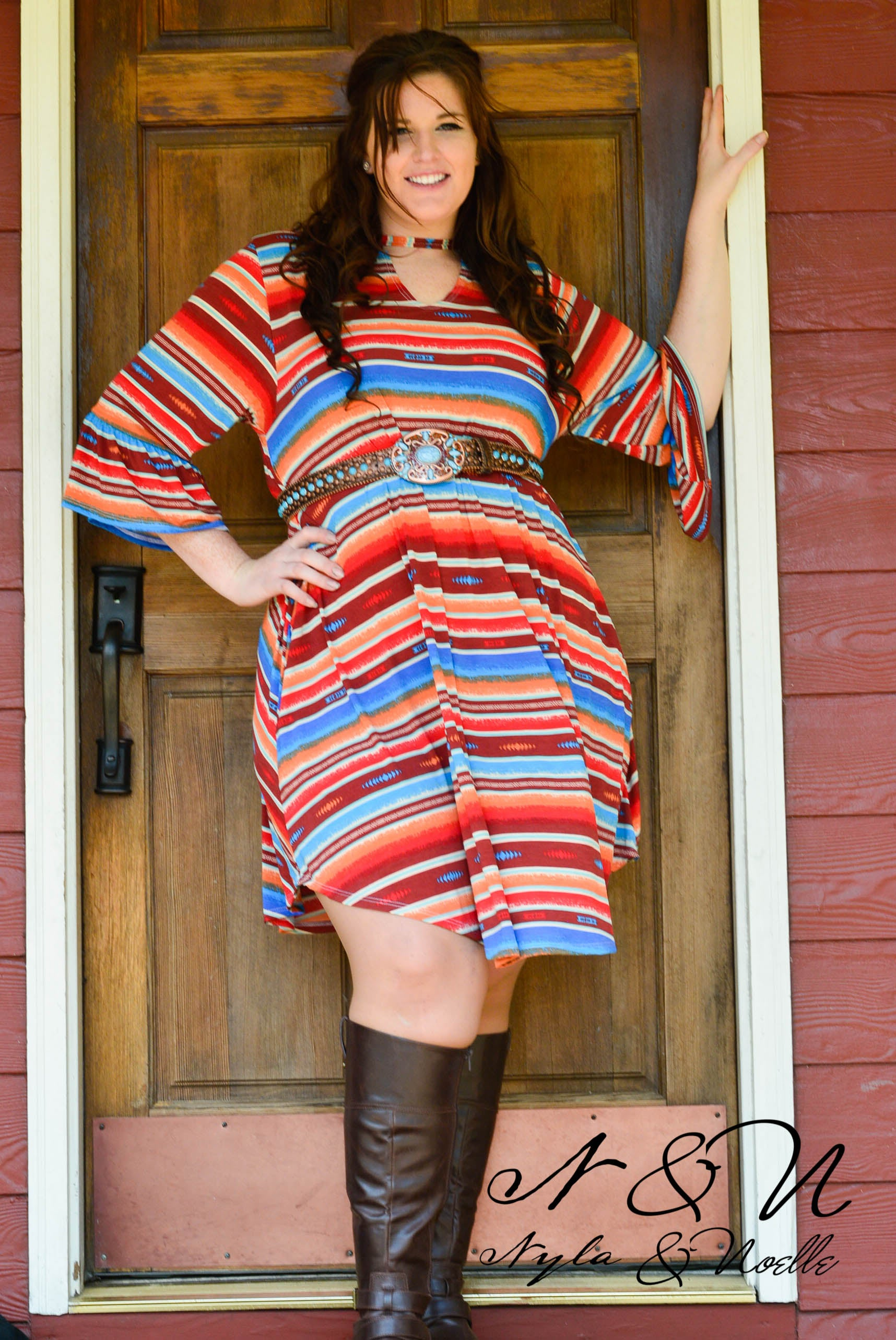 Callico - Striped Boho Dress