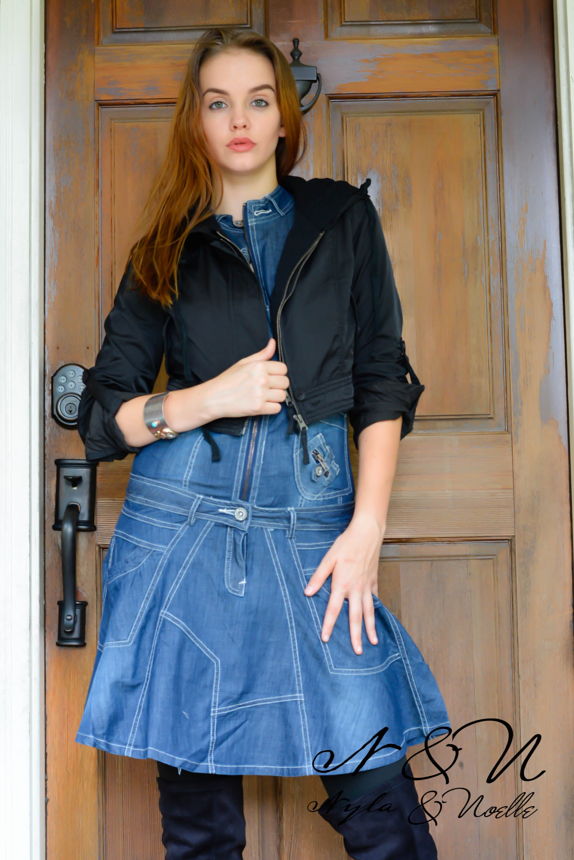 KIMORA - Steampunk Denim Dress