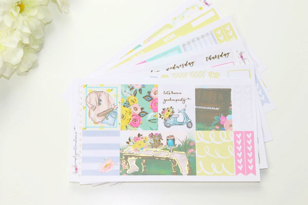 FOIL Gisele Deluxe Kit (Gold Foiled) // ECLP Planner Stickers