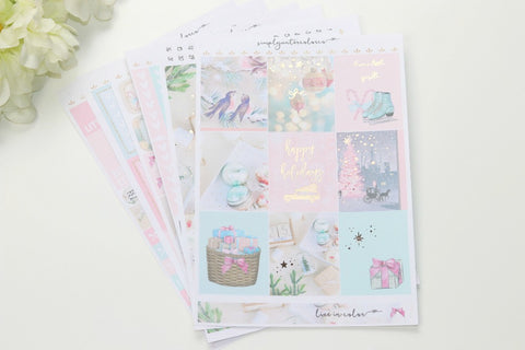 FOIL Sparkle Deluxe Kit (Rose Gold Foiled) // ECLP Planner Stickers