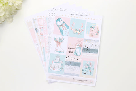 FOIL Elsa Deluxe Kit (Rose Gold Foiled) // ECLP Planner Stickers