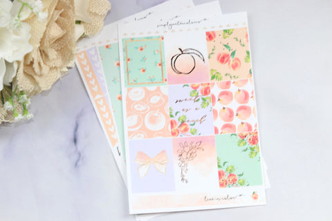 FOIL Georgiana MINI Kit (Rose Gold Foiled) // ECLP Planner Stickers
