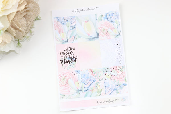 FOIL Bloom Deluxe Kit (R Gold Foiled) // ECLP Planner Stickers