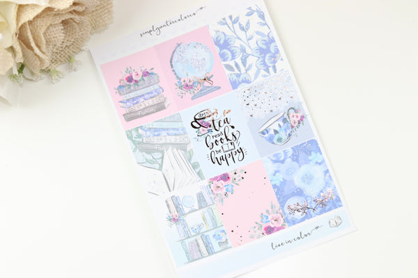 FOIL Brooke MINI Kit (Rose Gold Foiled) // ECLP Planner Stickers