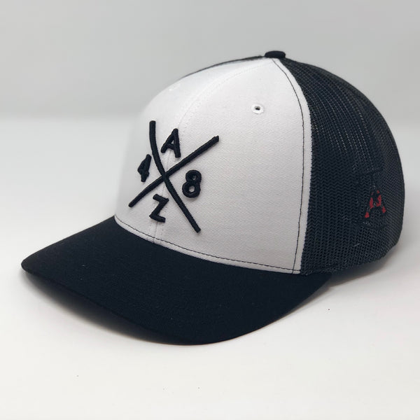 AZ48 Compass White/Black Trucker Hat