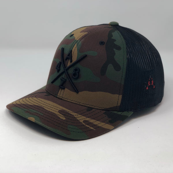 AZ 48 Compass Camo Trucker Hat