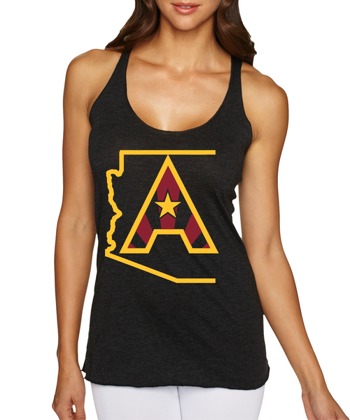 Arizoniacs Logo Women's Tank - Black/Gold