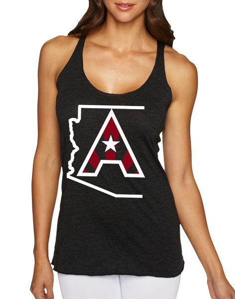 Arizoniacs Logo Women's Tank - Black/White