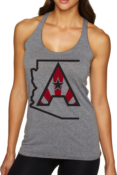 Arizoniacs Logo Women's Tank - Grey/Black