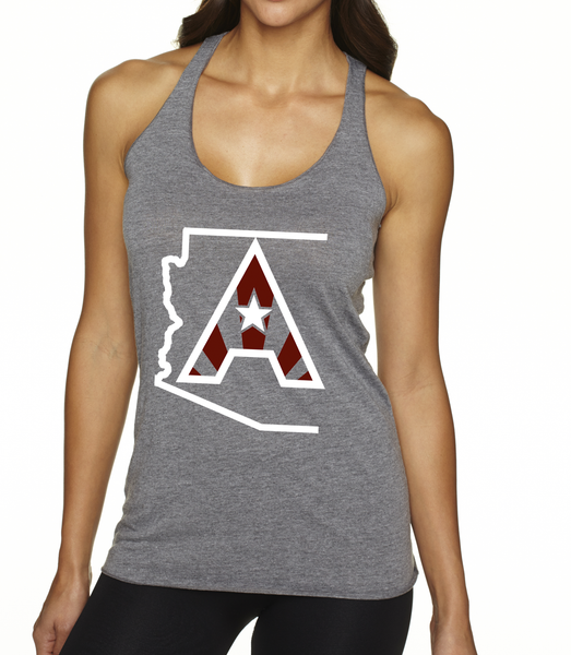 Arizoniacs Logo Women's Tank - Grey/White