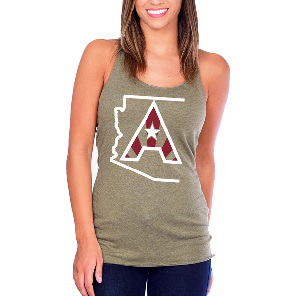 Arizoniacs Logo - Military Green Women's Tank