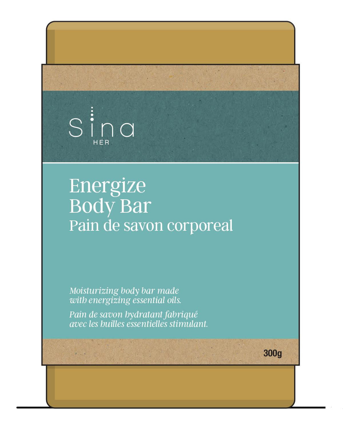 Essential Oils Body Bar for Energy and Relief of Fatigue