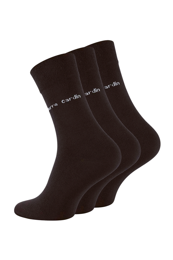 Pierre Cardin 3-Pack Dress Socks Brown