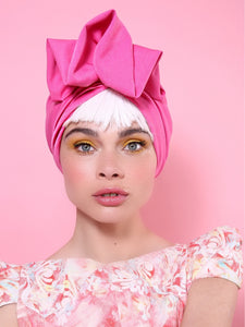 Fashion VintageTurban in Fuchsia