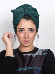 Fashion turban in Green