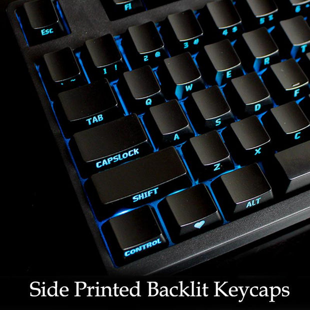 104 abs side printed backlit keycap