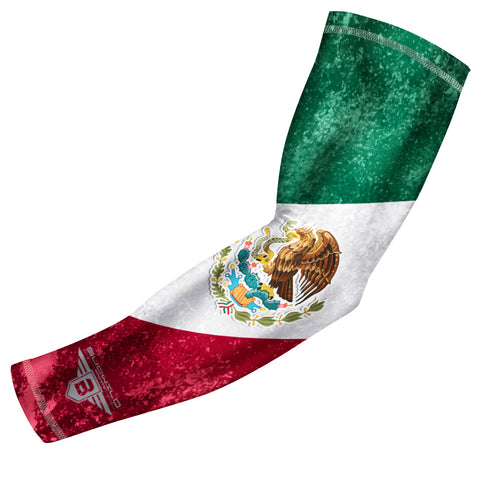 Bucwild Sports Mexico Flag Compression Arm Sleeve